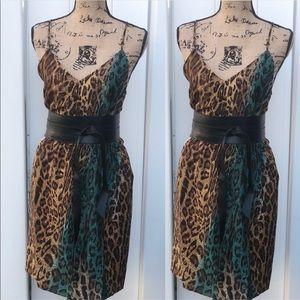 W118 By Walter Baker Animal Print Blouson Dress